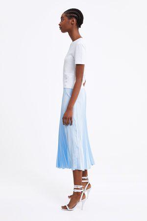 Zara Shirt mit rippenmuster und knöpfen