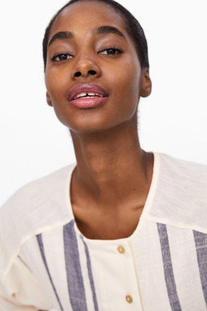 Zara Damen Tops & Shirts - Oberteil aus festem stoff mit streifen
