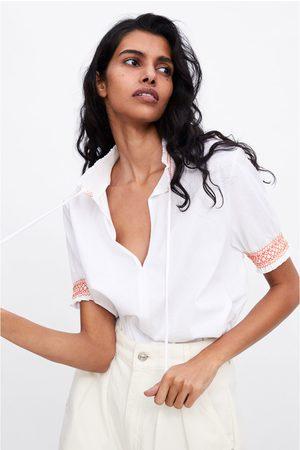 Zara Shirt mit elastischen einsätzen