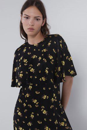 Zara Minikleid mit blumenprint