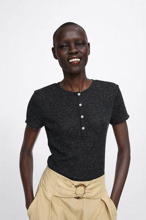 Zara T-shirt mit knöpfen