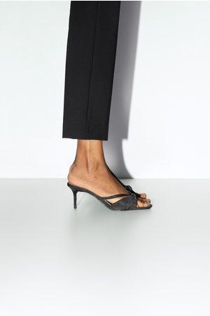 Zara Damen Clogs & Pantoletten - Riemchen-pantolette mit stilettoabsatz