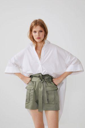 Zara Cargo-shorts mit gürtel