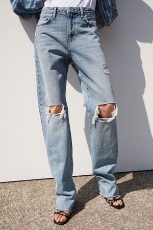 Zara Damen Straight - Jeans zw premium straight misty blue