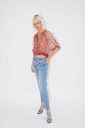 Zara Gemustertes cropped-hemd