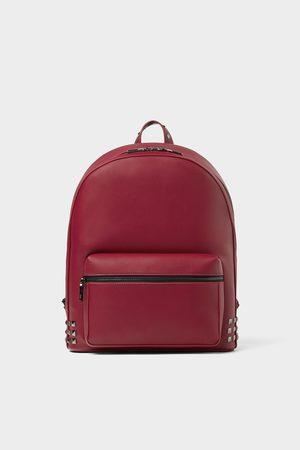 Zara Roter rucksack mit nieten