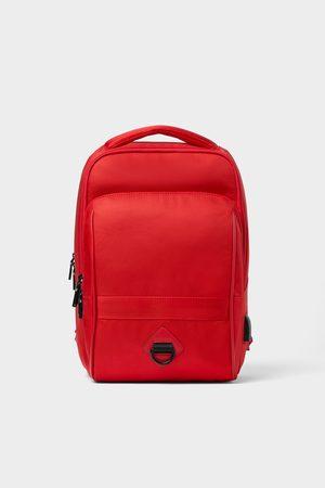 Zara Roter multufunktions-rucksack