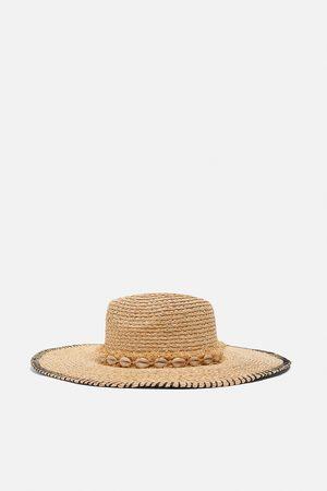 Zara Damen Hüte - Hut mit muscheln