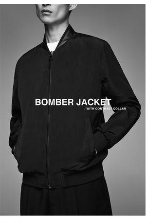 Zara Bomberjacke mit kontrastkragen