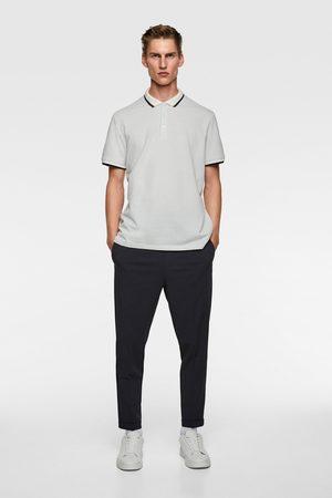 Zara Herren Poloshirts - Jacquard-poloshirt