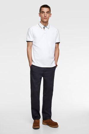 Zara Poloshirt mit kombinierten biesen