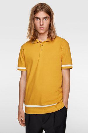 Zara Poloshirt mit karostrukturmuster