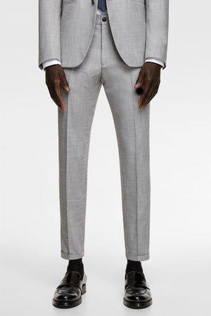Zara Stretch-anzughose mit strukturmuster