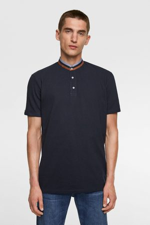 Zara Poloshirt mit stehkragen
