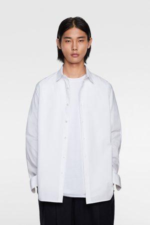 Zara Oxfordhemd mit strukturmuster