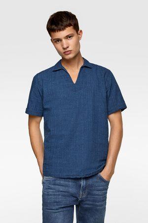 Zara Herren Poloshirts - Polohemd aus festem stoff
