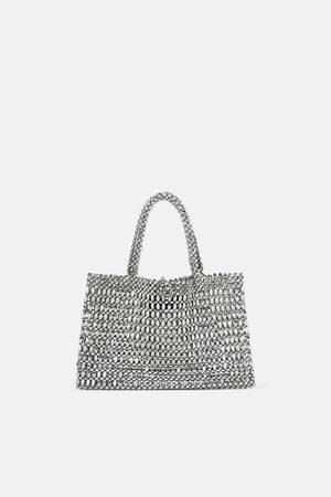 Zara Kleiner shopper in metalloptik