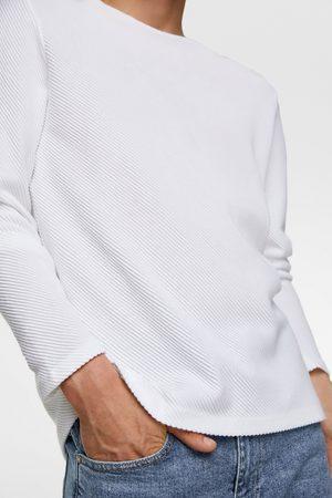 Zara Ottomane-pullover mit strukturmuster