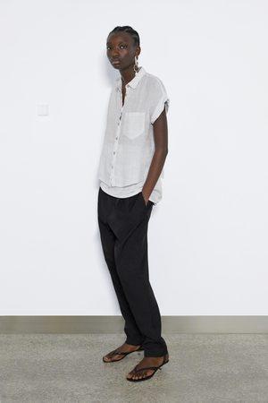 Zara Leinenhemd mit tasche
