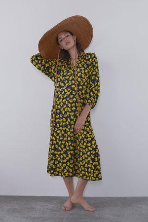 Zara Langes kleid mit blumenprint