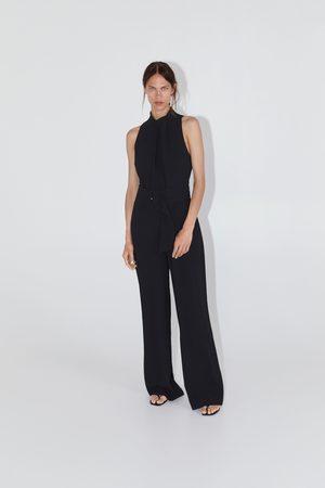 Zara Langer overall mit gürtel