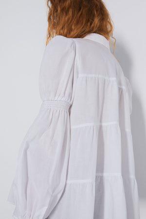 Zara Hemd mit raffungen