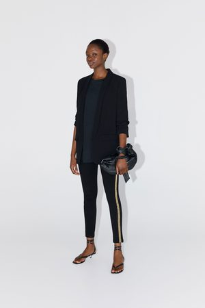 Zara Leggings mit seitenstreifen