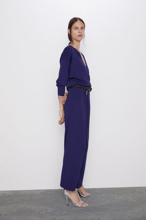 Zara Zweireihiger overall aus webstoff