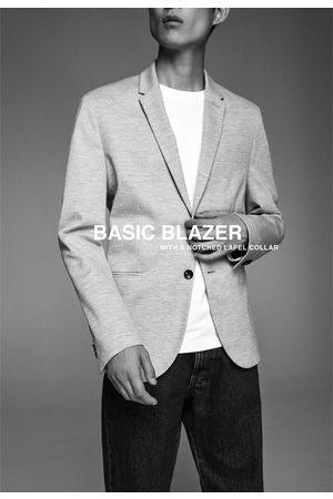 Zara Basic-blazer mit strukturmuster