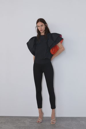 Zara Damen Leggings & Treggings - Leggings mit breitem bund