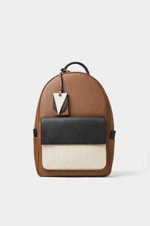 Zara Dreifarbiger rucksack