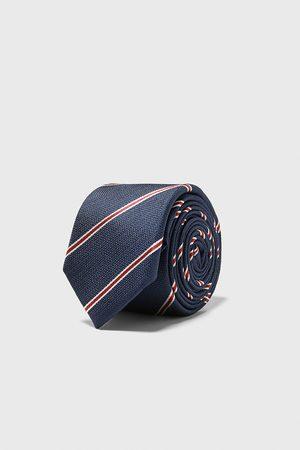 Zara Schmale jacquard-krawatte mit streifen