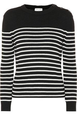 Saint Laurent Damen Strickpullover - Pullover aus Baumwolle und Wolle