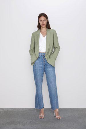 Zara High-rise-jeans z1975 mit knöpfen