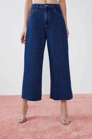 Zara Hi-rise-culotte-jeans