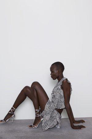 Zara Bermudashorts mit volant und print