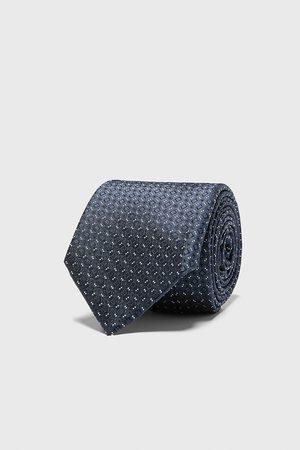 Zara Herren Krawatten - Breite jacquard-krawatte mit rauten