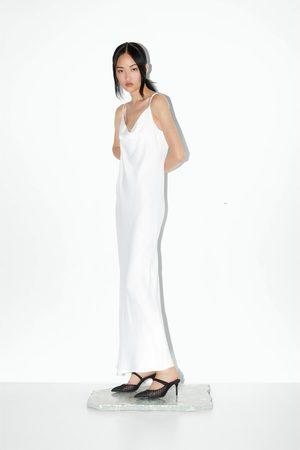 Zara Pantolette mit netzstoff und absatz