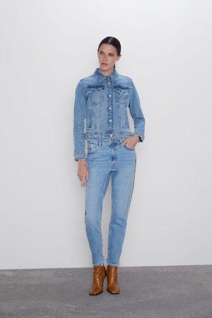 Zara Damen Baggy & Boyfriend - Jeans z1975 mom fit banda joya