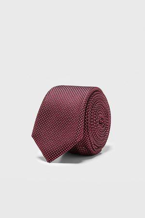 Zara Herren Krawatten - Schmale jacquard-krawatte mit geometrischem muster