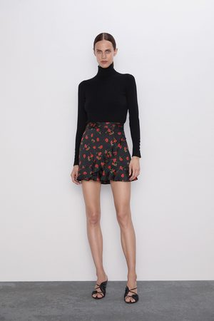 Zara Shorts mit print und volants