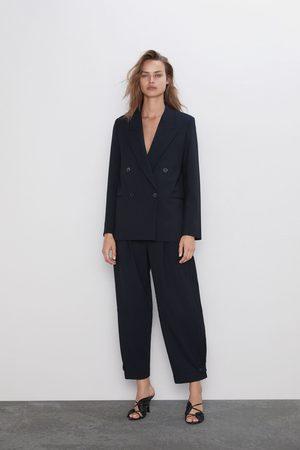 Zara Doppelreihiger blazer mit streifen