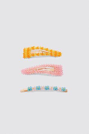 Zara Haarklammern-set mit mehrfarbigen glitzersteinen