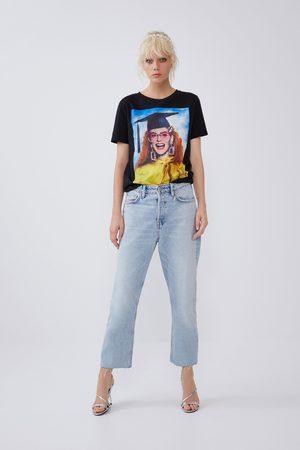 Zara Shirt mit print vorne