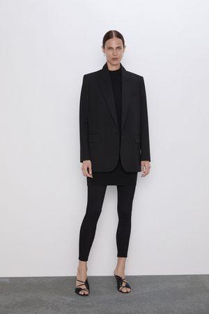 Zara Ottomane-leggings mit reissverschluss