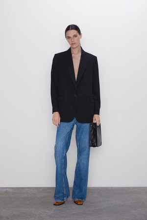 Zara Oversize-blazer mit knopf