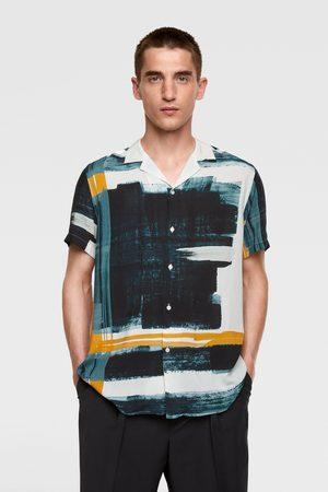 Zara Hemd mit abstraktem print