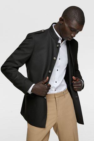 Zara Uniformjacke mit strukturmuster und band