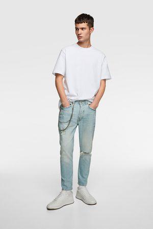 Zara Slim-fit-jeans mit ketten