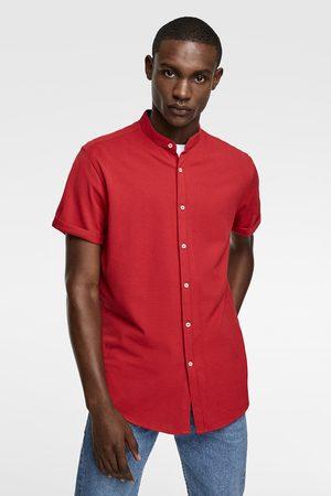 Zara Pikee-hemd mit stehkragen